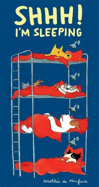 Shhh! I'm sleeping book, Dorothee de Monfreid, boardbook for preschoolers, book about sharing a bedroom