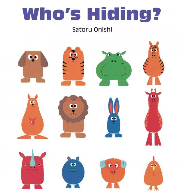 Who's Hiding book, Satoru Onishi, interactive picture book for preschoolers, look and find book