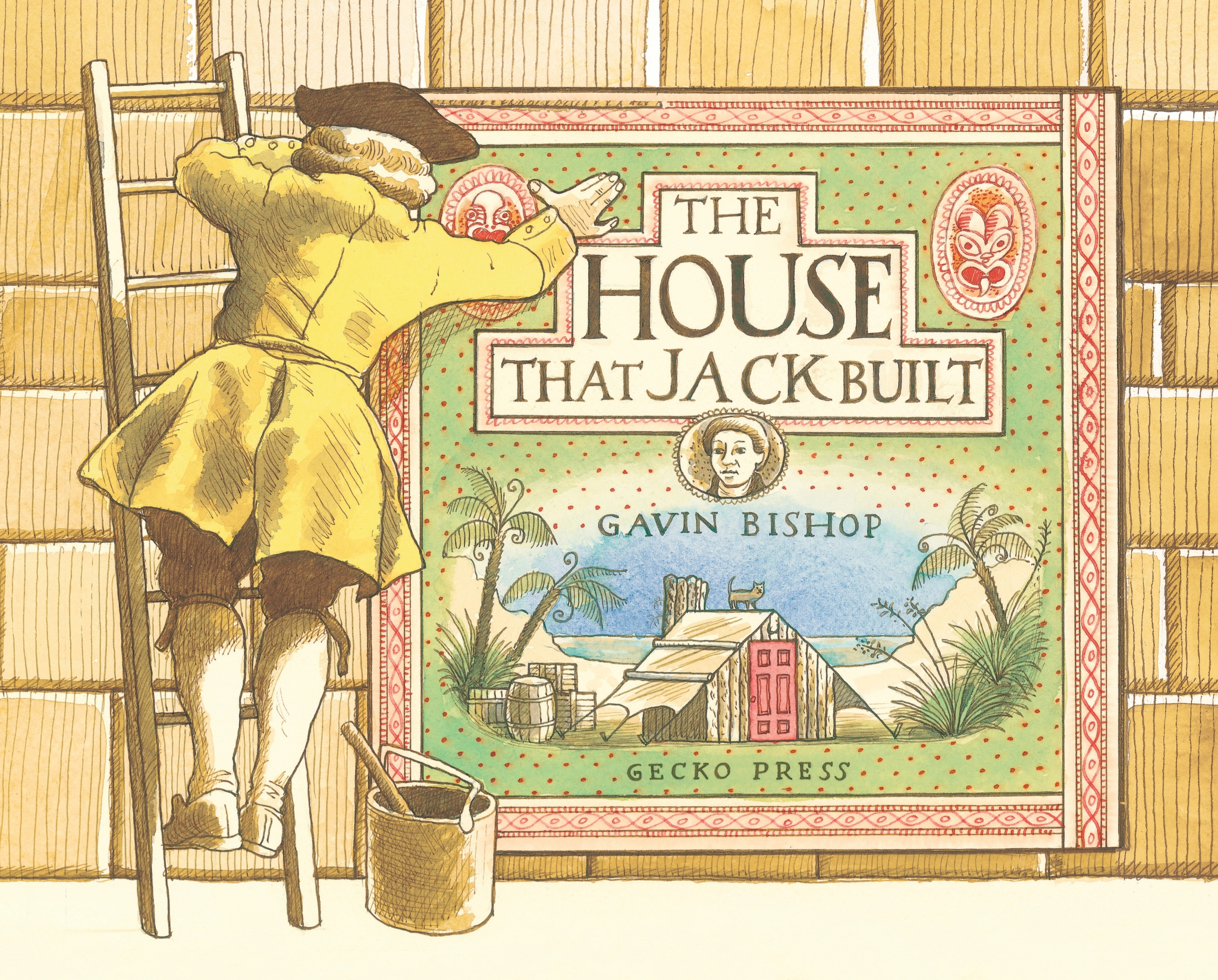 The house that Jack built book, Gavin Bishop, picture book for kids, nursery rhyme