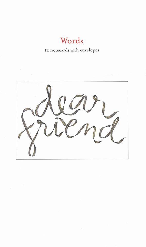 dear friend notecards