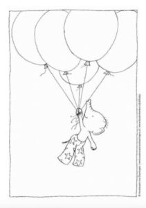 My Mama colouring sheet balloons