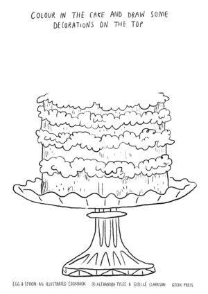 Egg & Spoon Activity Sheet Cake