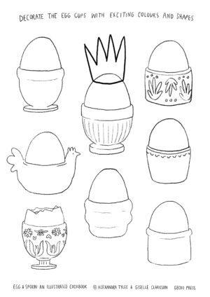 Egg & Spoon Activity Sheet Egg Cups