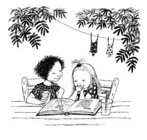 Ella and Dani read