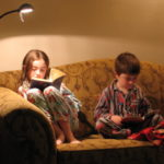 Emma reading at a young age